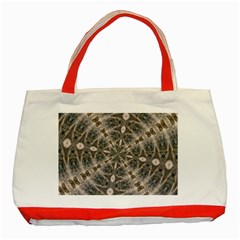 Flowing Waters Kaleidoscope Classic Tote Bag (red)