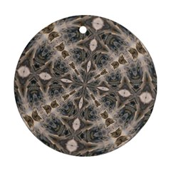 Flowing Waters Kaleidoscope Round Ornament (two Sides)