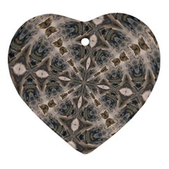 Flowing Waters Kaleidoscope Heart Ornament (Two Sides)