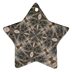 Flowing Waters Kaleidoscope Star Ornament (Two Sides)