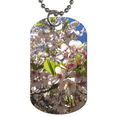 Cherry Blossoms Dog Tag (Two-sided)