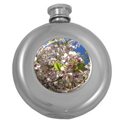 Cherry Blossoms Hip Flask (Round)