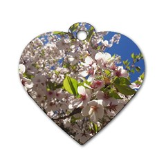 Cherry Blossoms Dog Tag Heart (Two Sided)