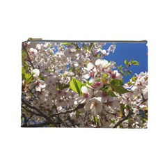 Cherry Blossoms Cosmetic Bag (large)
