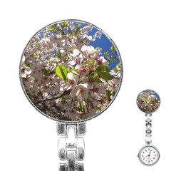Cherry Blossoms Stainless Steel Nurses Watch