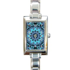 Star Connection, Abstract Cosmic Constellation Rectangular Italian Charm Watch