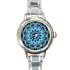 Star Connection, Abstract Cosmic Constellation Round Italian Charm Watch