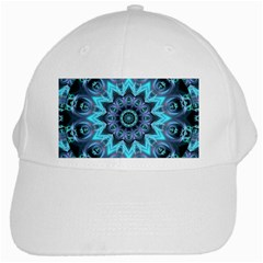Star Connection, Abstract Cosmic Constellation White Baseball Cap
