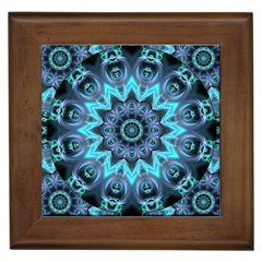 Star Connection, Abstract Cosmic Constellation Framed Ceramic Tile