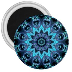Star Connection, Abstract Cosmic Constellation 3  Button Magnet