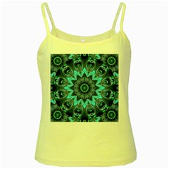 Star Connection, Abstract Cosmic Constellation Yellow Spaghetti Tank