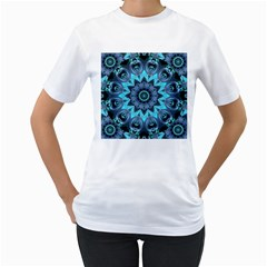 Star Connection, Abstract Cosmic Constellation Women s Two-sided T-shirt (White)