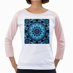 Star Connection, Abstract Cosmic Constellation Women s Long Cap Sleeve T Shirt (white)