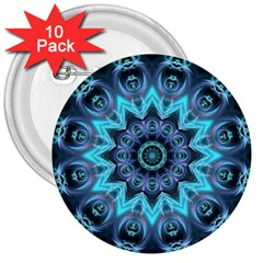 Star Connection, Abstract Cosmic Constellation 3  Button (10 pack)