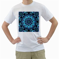 Star Connection, Abstract Cosmic Constellation Men s Two Sided T Shirt (white)