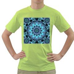 Star Connection, Abstract Cosmic Constellation Men s T-shirt (Green)
