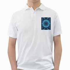 Star Connection, Abstract Cosmic Constellation Men s Polo Shirt (White)