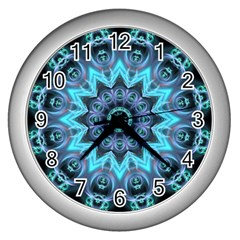 Star Connection, Abstract Cosmic Constellation Wall Clock (Silver)