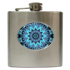 Star Connection, Abstract Cosmic Constellation Hip Flask