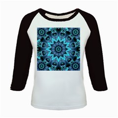 Star Connection, Abstract Cosmic Constellation Kids Long Cap Sleeve T Shirt
