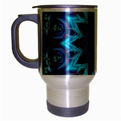 Star Connection, Abstract Cosmic Constellation Travel Mug (Silver Gray)