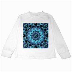 Star Connection, Abstract Cosmic Constellation Kids Long Sleeve T Shirt