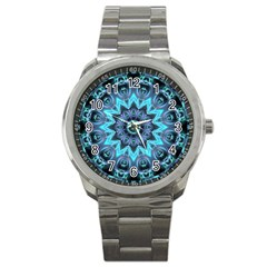 Star Connection, Abstract Cosmic Constellation Sport Metal Watch
