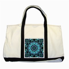 Star Connection, Abstract Cosmic Constellation Two Toned Tote Bag