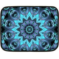 Star Connection, Abstract Cosmic Constellation Mini Fleece Blanket (Two Sided)