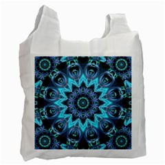Star Connection, Abstract Cosmic Constellation White Reusable Bag (Two Sides)