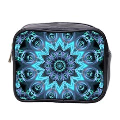 Star Connection, Abstract Cosmic Constellation Mini Travel Toiletry Bag (Two Sides)