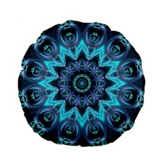 Star Connection, Abstract Cosmic Constellation 15  Premium Round Cushion