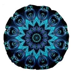 Star Connection, Abstract Cosmic Constellation 18  Premium Round Cushion