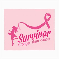 Survivor Stronger Than Cancer Pink Ribbon Glasses Cloth (Small)