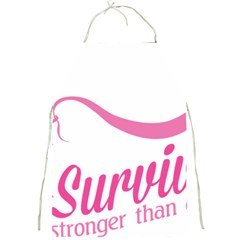 Survivor Stronger Than Cancer Pink Ribbon Apron