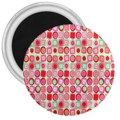 Far Out Geometrics 3  Button Magnet