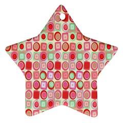 Far Out Geometrics Star Ornament