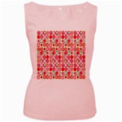 Far Out Geometrics Women s Tank Top (Pink)