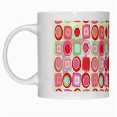 Far Out Geometrics White Coffee Mug