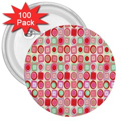 Far Out Geometrics 3  Button (100 pack)