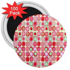 Far Out Geometrics 3  Button Magnet (100 pack)