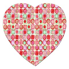 Far Out Geometrics Jigsaw Puzzle (heart)