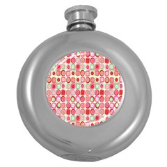 Far Out Geometrics Hip Flask (Round)