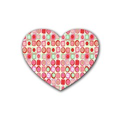 Far Out Geometrics Drink Coasters 4 Pack (Heart)