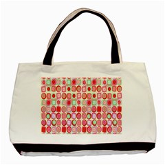 Far Out Geometrics Twin-sided Black Tote Bag
