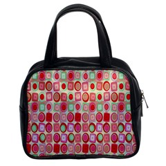Far Out Geometrics Classic Handbag (two Sides)