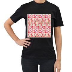 Far Out Geometrics Women s T-shirt (Black)