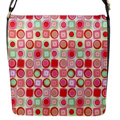 Far Out Geometrics Flap Closure Messenger Bag (Small)