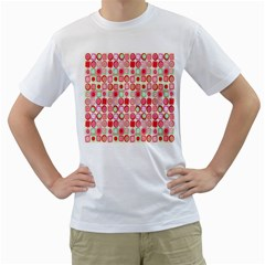 Far Out Geometrics Men s T Shirt (white)