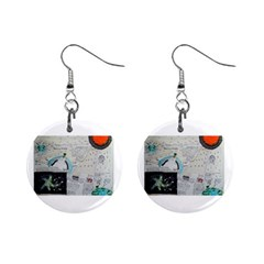 Neutrino Gravity, Mini Button Earrings